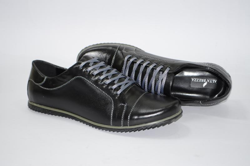 Мужские кожаные демисезонные туфли, кожа