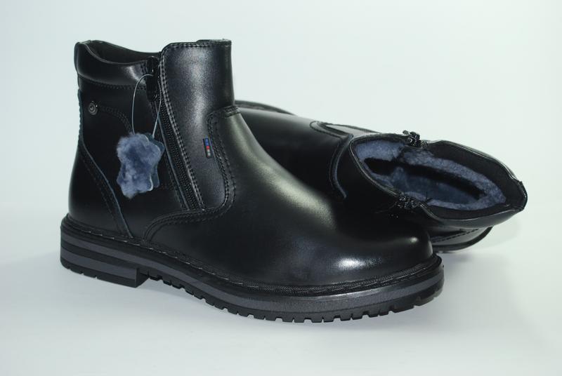 Зимние  кожаные мужские  ботинки,сапоги
