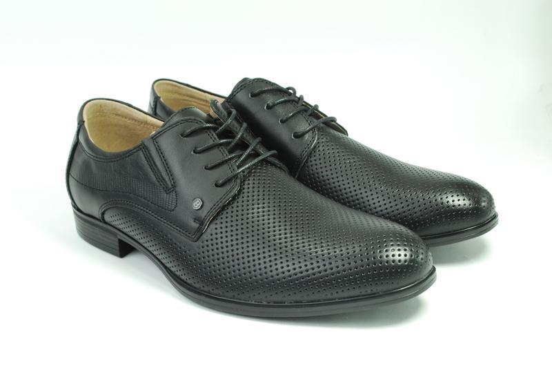 Мужские летние туфли, кожа