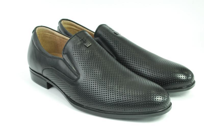 Мужские кожаные летние туфли