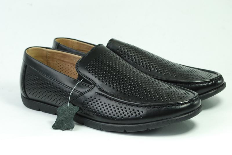 Мужские кожаные туфли, лето