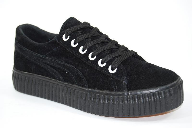 Черные кеды кроссовки 301-2