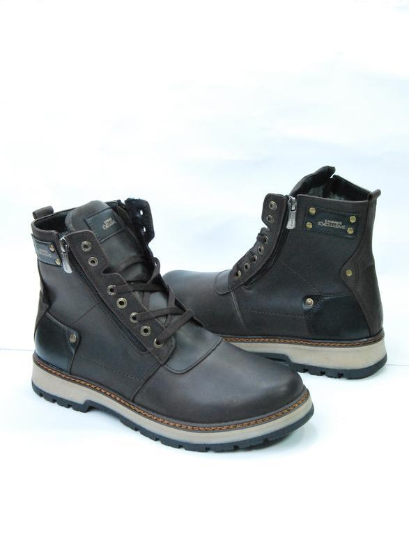 Zangak ботинки мужские зимние коричневые кожа - Фото 2