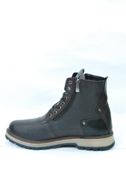 Zangak ботинки мужские зимние коричневые кожа - Фото 3
