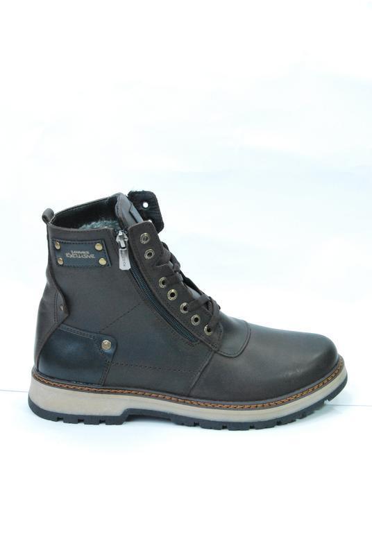Zangak ботинки мужские зимние коричневые кожа - Фото 4
