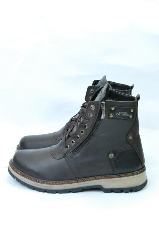 Zangak ботинки мужские зимние коричневые кожа - Фото 5