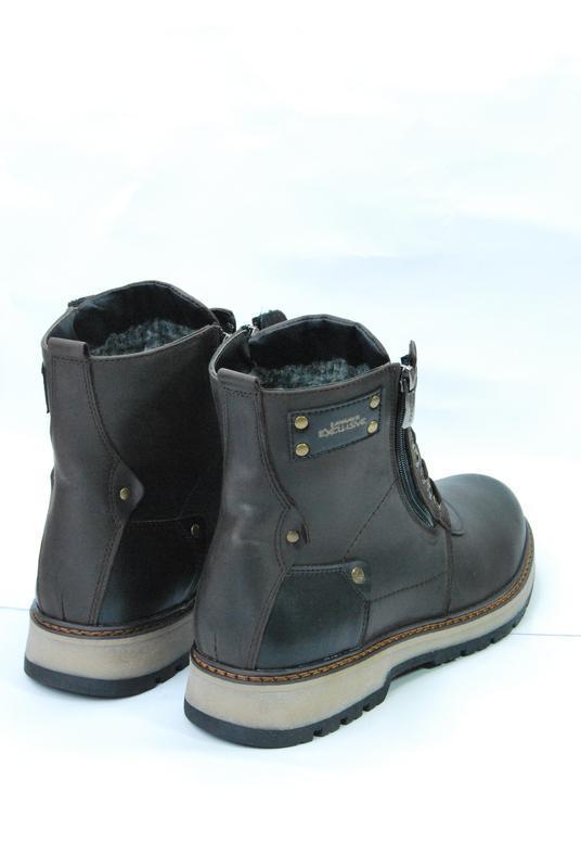 Zangak ботинки мужские зимние коричневые кожа - Фото 6