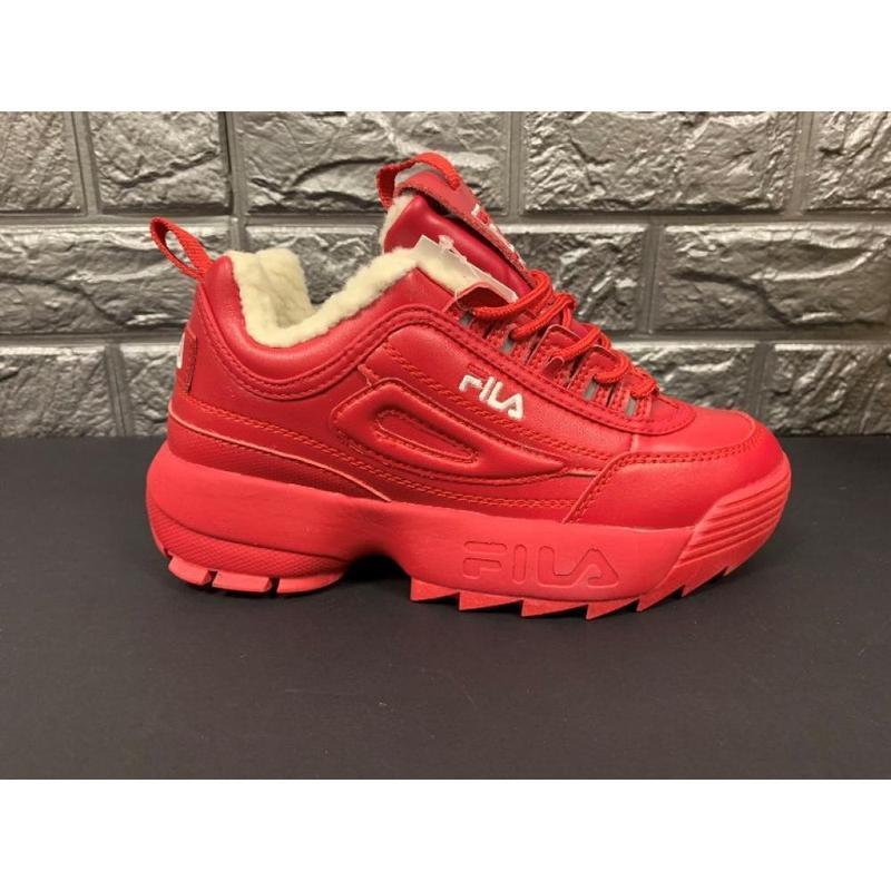 Распродажа! женские красные кроссовки fila disruptor 2 распрод...