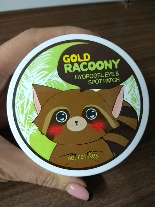 Гидрогелевые патчиSecretKey Gold Racoony HydroGel Eye Patch(60шт)
