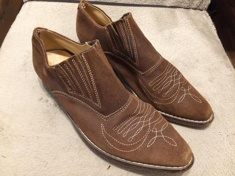 Кожаные замшевые туфли - Фото 2