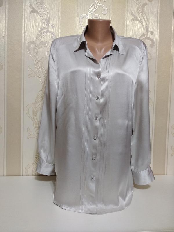 Шелковая рубашка , canda c&a , 100% шелк