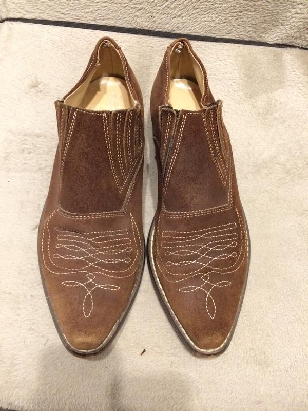 Кожаные замшевые туфли - Фото 4