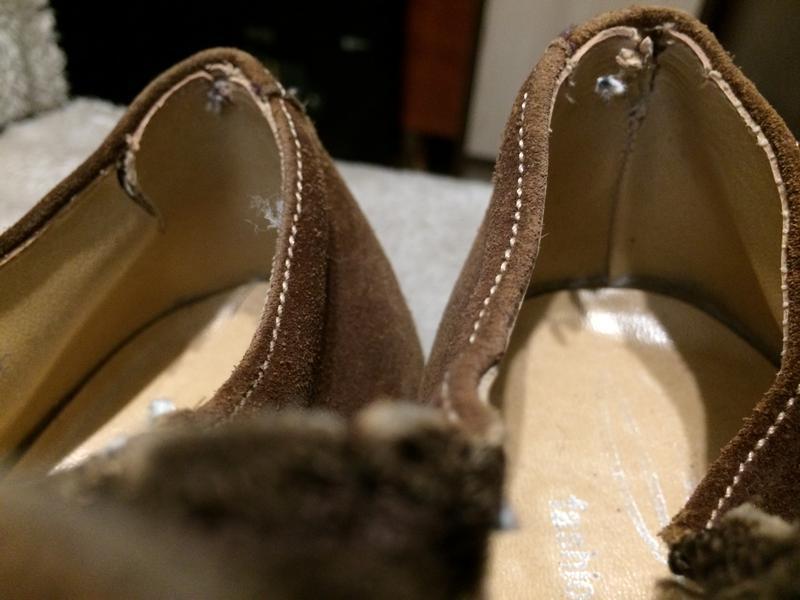Кожаные замшевые туфли - Фото 5