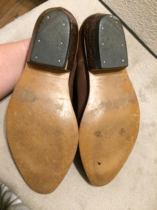 Кожаные замшевые туфли - Фото 7