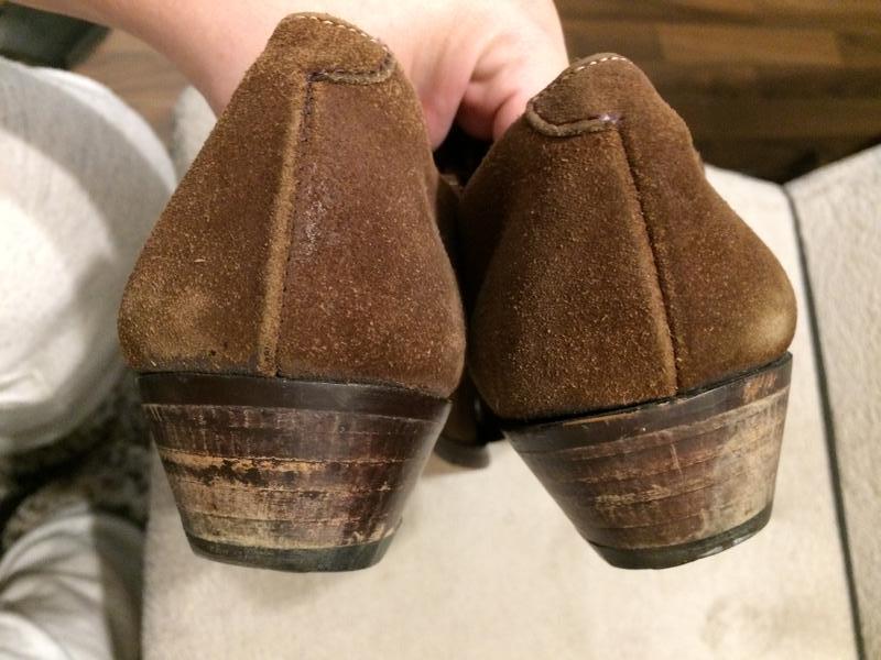 Кожаные замшевые туфли - Фото 8