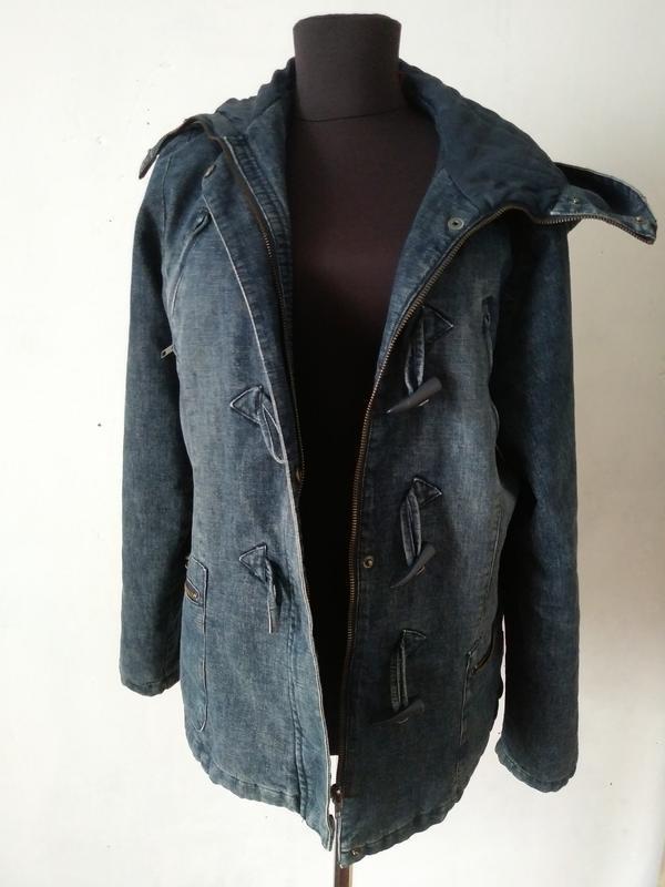 Стильная джинсовая куртка утепленная