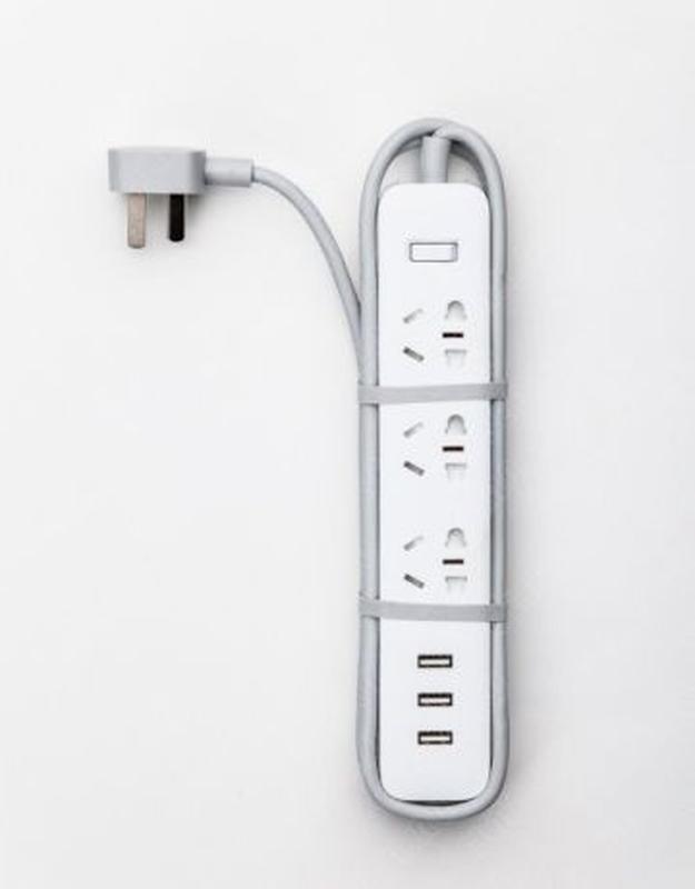 Удлинитель Xiaomi Mi Power Strip 3 розетки и 3 USB сетевой фильтр - Фото 3