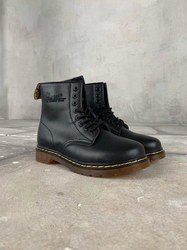 Шикарные женские зимние ботинки dr. martens 1460 black fur 😍 (...