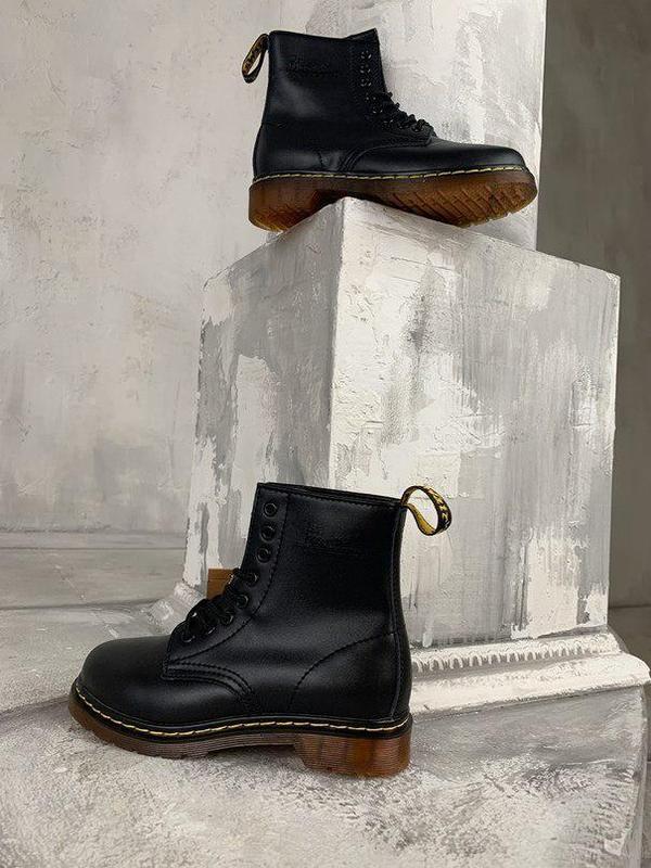Шикарные женские зимние ботинки dr. martens 1460 black fur 😍 (... - Фото 3