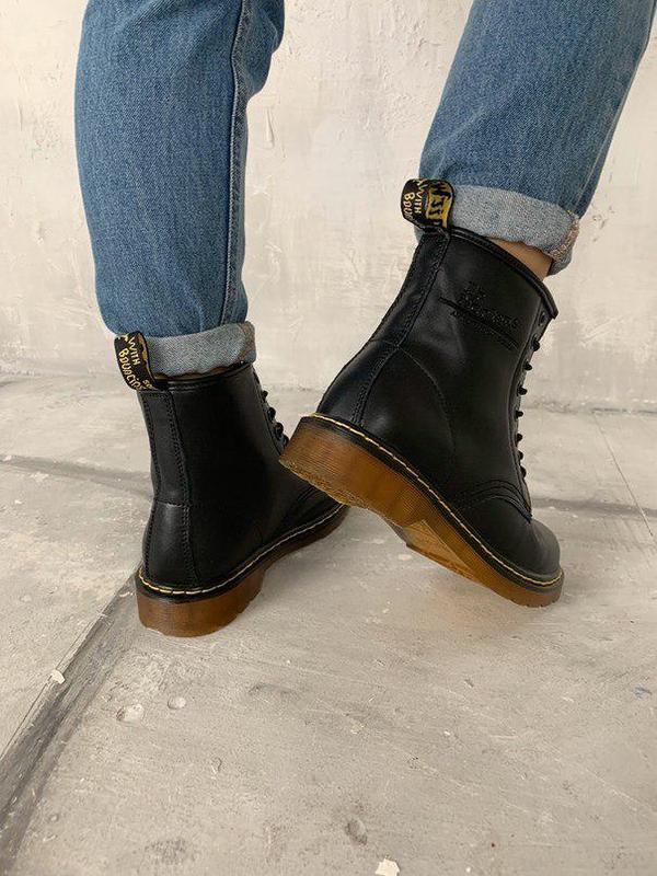 Шикарные женские зимние ботинки dr. martens 1460 black fur 😍 (... - Фото 4