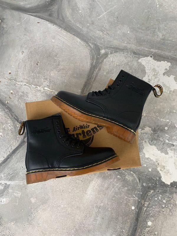 Шикарные женские зимние ботинки dr. martens 1460 black fur 😍 (... - Фото 5
