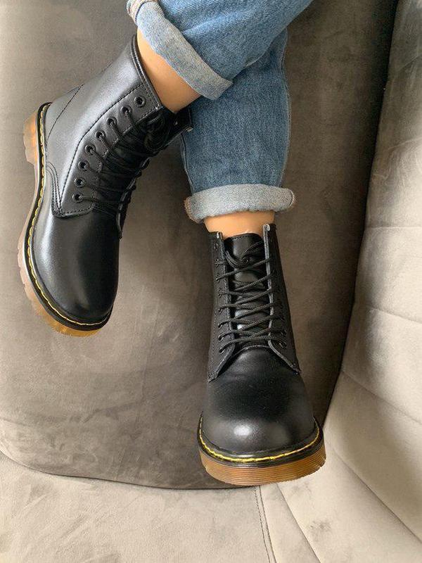 Шикарные женские зимние ботинки dr. martens 1460 black fur 😍 (... - Фото 6