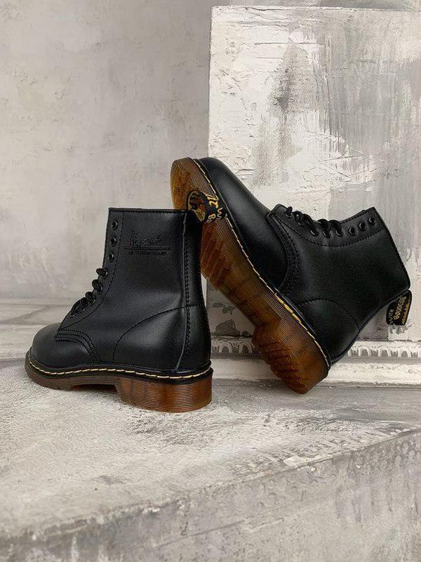 Шикарные женские зимние ботинки dr. martens 1460 black fur 😍 (... - Фото 7
