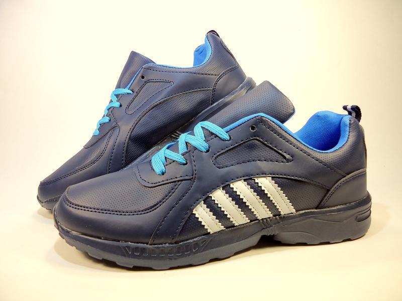 Кроссовки мужские синие, легкие, беговые. размер 41-45. - Фото 2
