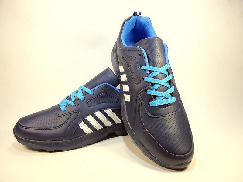 Кроссовки мужские синие, легкие, беговые. размер 41-45. - Фото 3