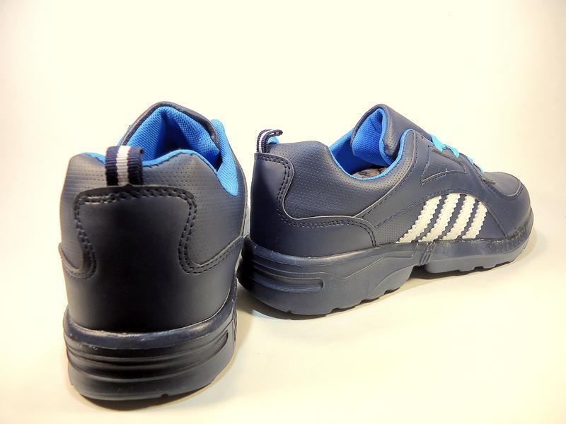 Кроссовки мужские синие, легкие, беговые. размер 41-45. - Фото 4