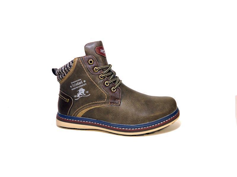 Мужские зимние ботинки, комфортные и теплые. размер 40-45.
