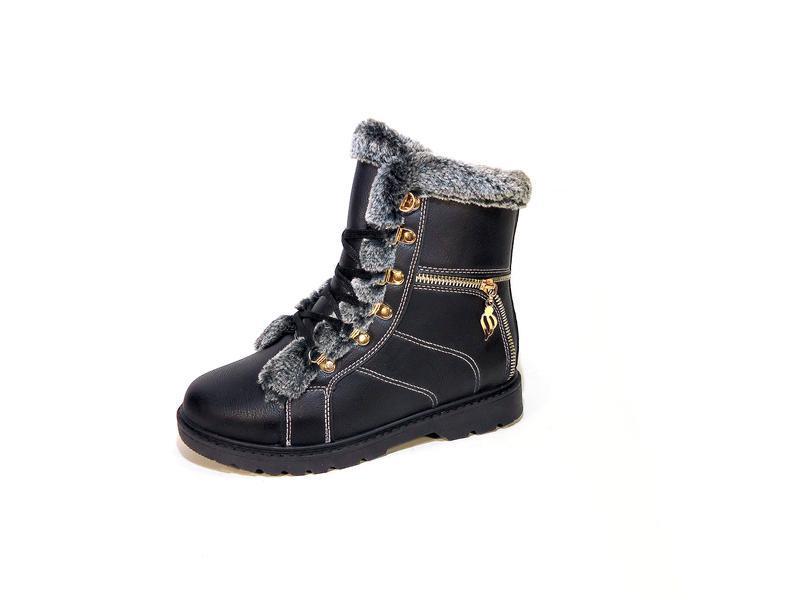 Ботинки женские, зимние, на молнии и шнуровке. размер 35-40.