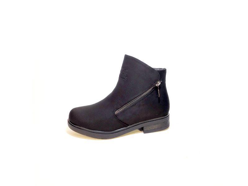 Ботинки-полусапожки, женские, зимние, замшевые, теплые и удобн...