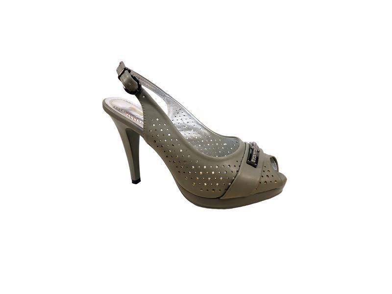 Женские босоножки на высоком каблуке, шпильке, нарядные.