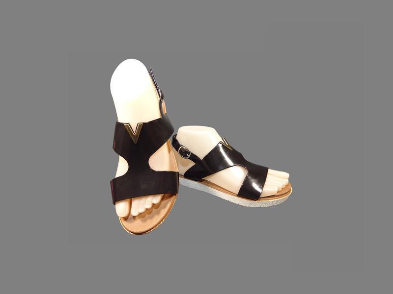 Босоножки сандалии женские, силиконовые, черные, пенка.