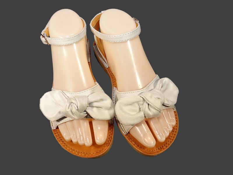 Босоножки сандалии женские с бантом, замшевые. - Фото 4