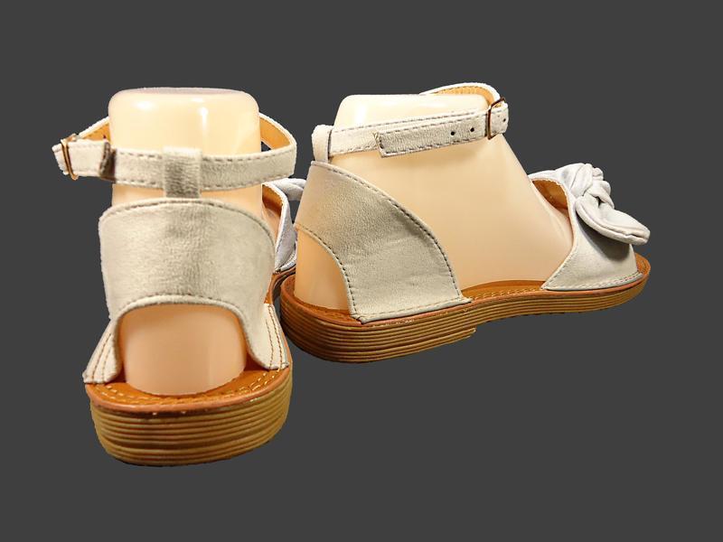 Босоножки сандалии женские с бантом, замшевые. - Фото 5