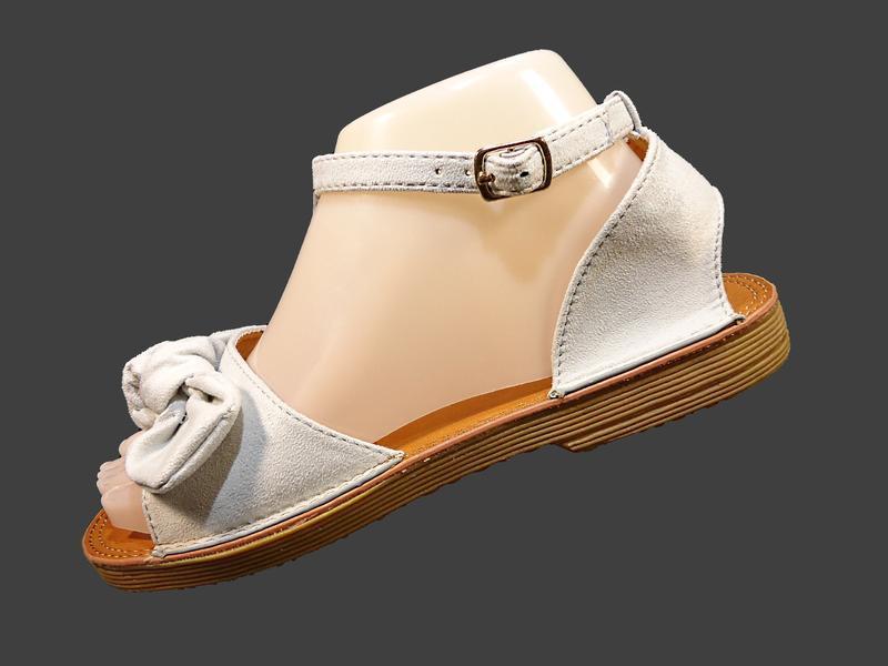 Босоножки сандалии женские с бантом, замшевые. - Фото 6