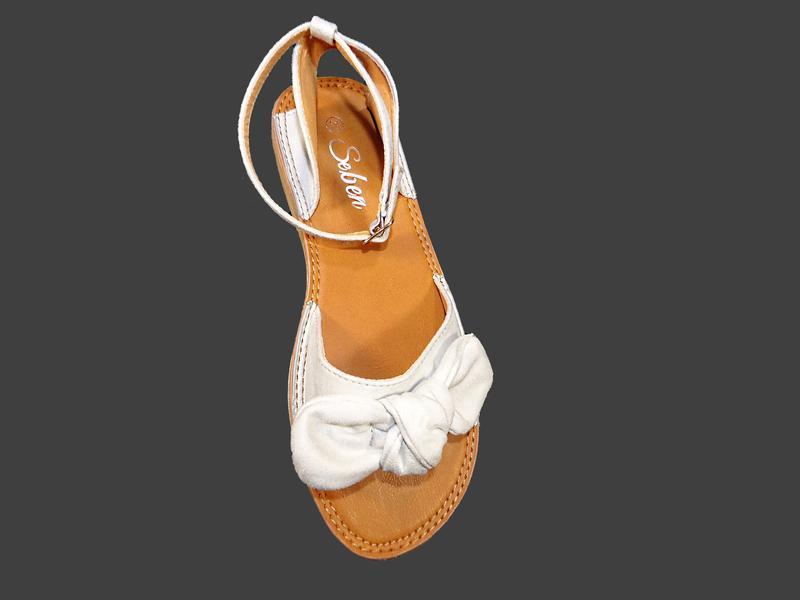 Босоножки сандалии женские с бантом, замшевые. - Фото 7