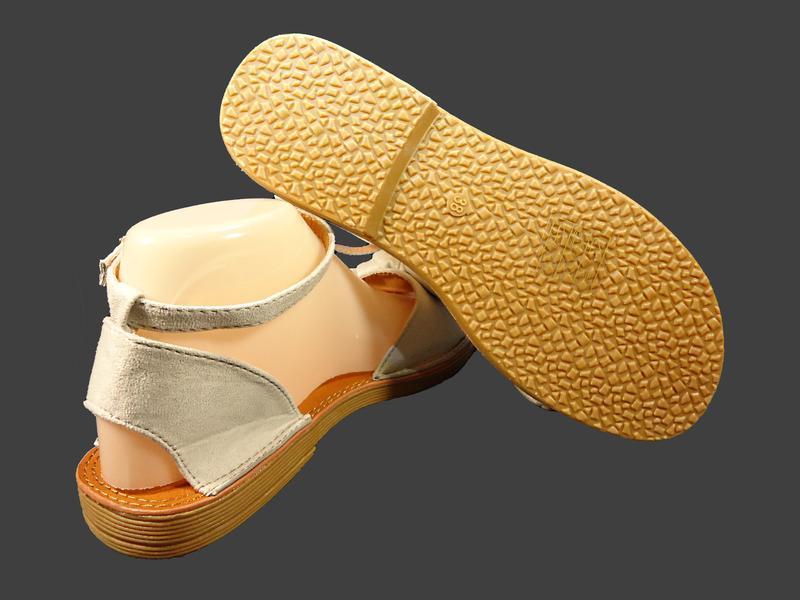 Босоножки сандалии женские с бантом, замшевые. - Фото 8