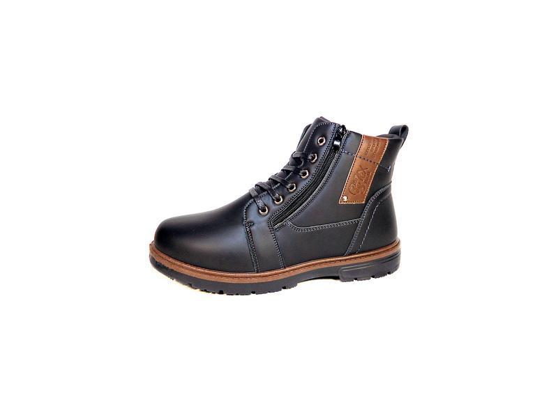 Мужские зимние ботинки на меху, стильные и комфортные.