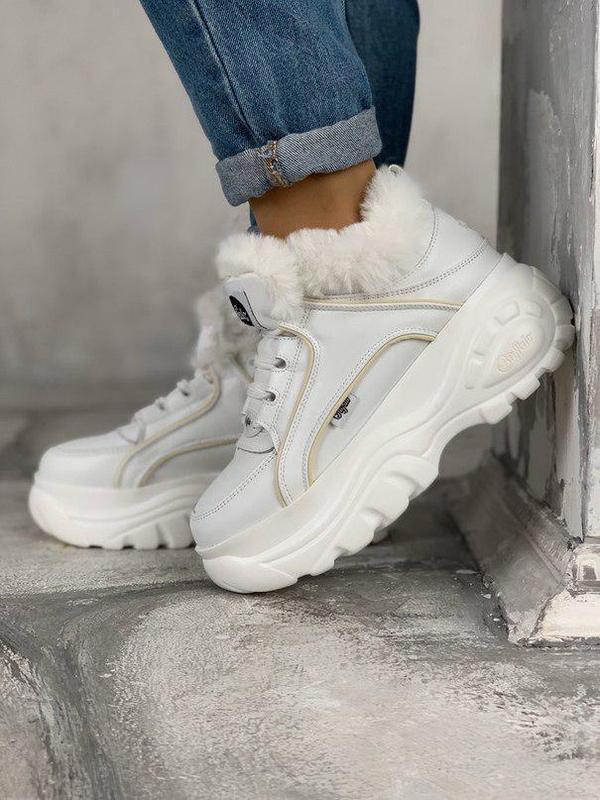 Шикарные женские зимние кроссовки/ ботинки buffalo london whit...