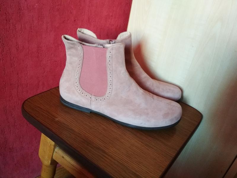 Замшевые шикарные ботинки