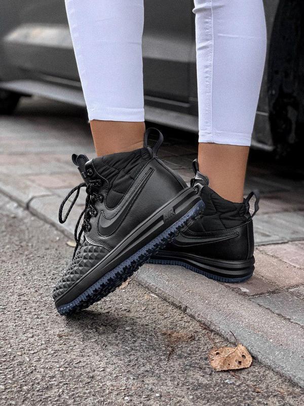 Шикарные женские кроссовки nike lunar force 1 duckboot black 😍...