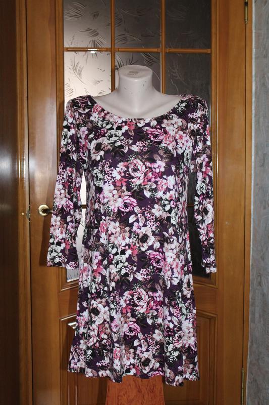 Красивое трикотажное платье туника m&s