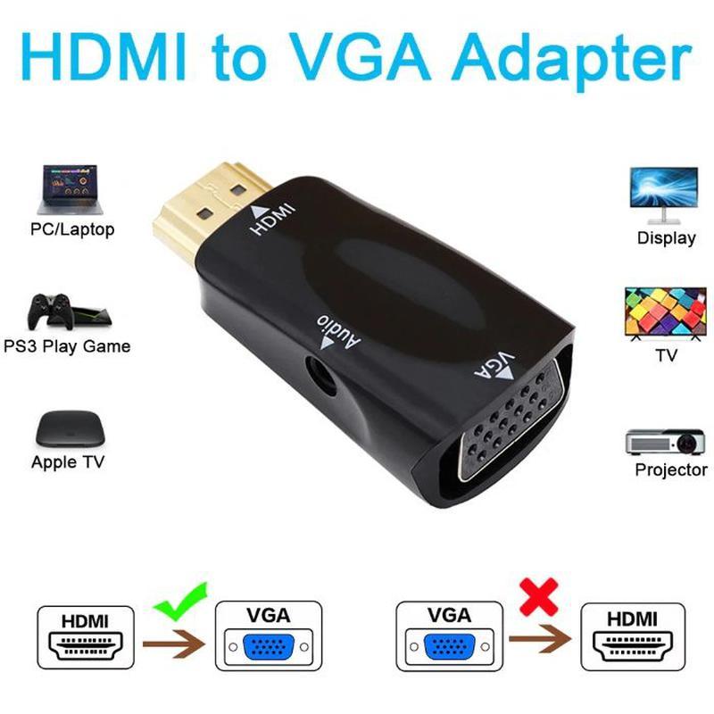 Адаптер HDMI-VGA адаптер, конвертер, переходник +звук