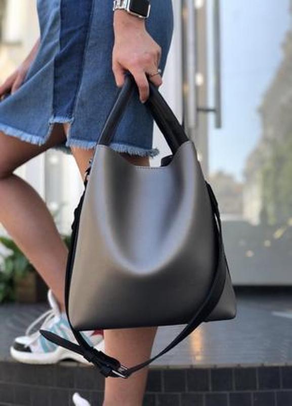 Молодежная женская сумка леора металлик - Фото 4
