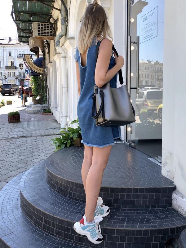 Молодежная женская сумка леора металлик - Фото 6