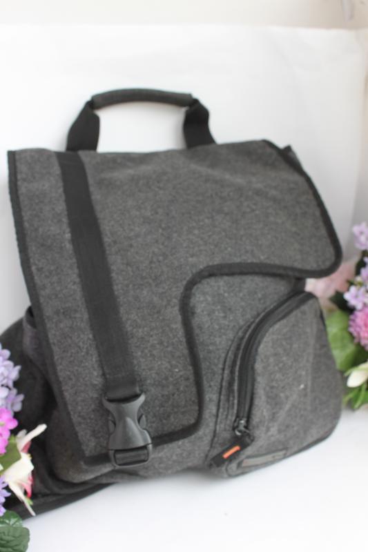 Трендовый необычный рюкзак ранец валяние тканевый