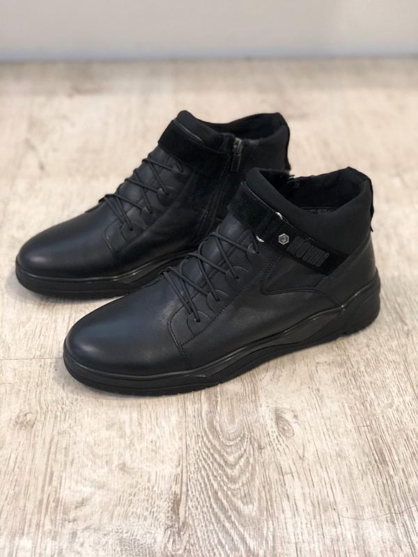 Стильные мужские зимние ботинки кроссовки хайтопы